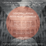 Choeur Unil la petite messe solennelle de Rossini